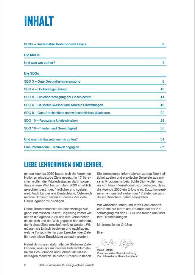 2030 - Gemeinsam für eine gerechtere Zukunft | Unterrichtsmaterial ...
