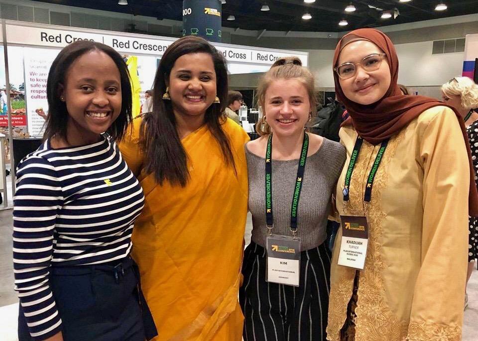 Kim Ducho aus dem Jugendbeirat hat 2019 für Plan International an der Internationalen Konferenz Women Deliver in Vancouver teilgenommen und sich mit Expert*innen aus aller Welt ausgetauscht.