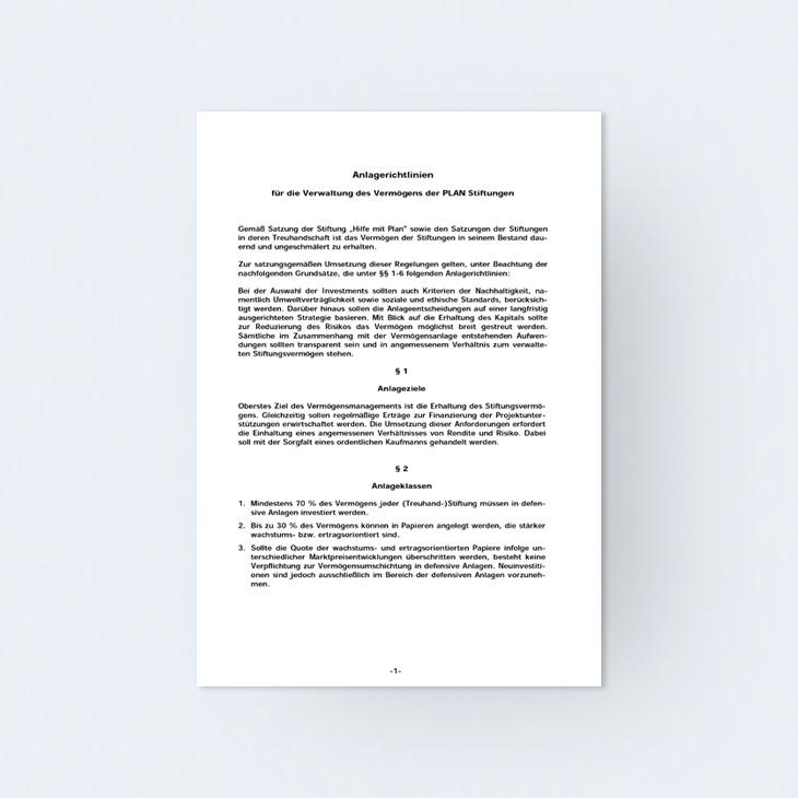 Anlagerichtlinien
